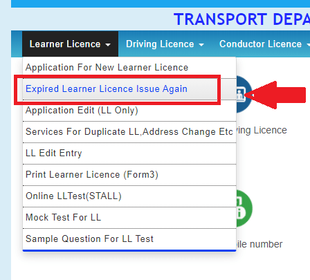 Expire Learner Licence Issue