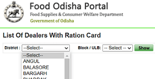 List Of Dealers With Ration Card