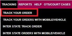 Track TS sand booking order